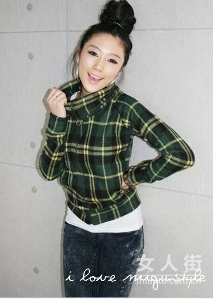 韩国粉嫩女生最新逛街新搭